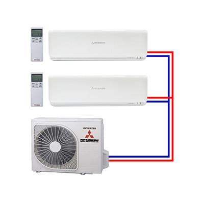 Multi split airco systemen van Mitsubishi Heavy Industries - Airco voor bedrijven